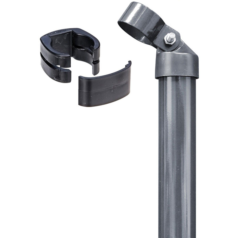 GAH Alberts Eck-Set für Zaun Fix-Clip Pro Anthrazit 153 cm Hoch zum Einbetonieren