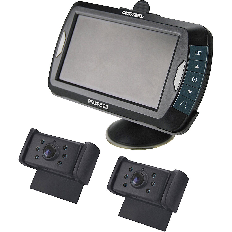 r ckfahrkamera set digital 4 3 monitor mit 2 k kabellos. Black Bedroom Furniture Sets. Home Design Ideas
