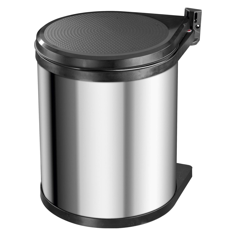 Hailo m lleimer compact box 15 l edelstahl kaufen bei obi for Poubelle de porte cuisine castorama