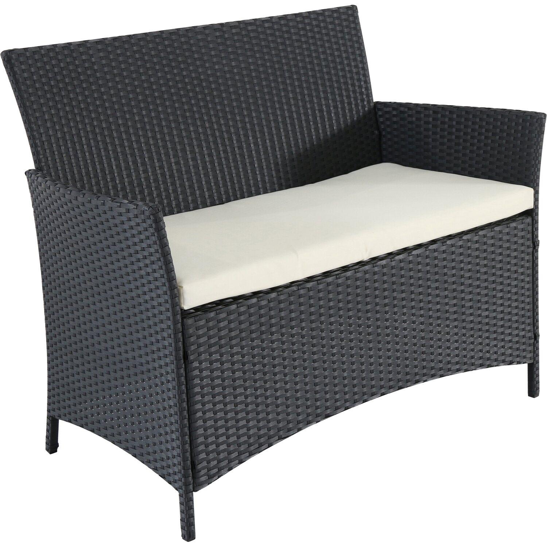 Polyrattan 2 Sitzer : polyrattan geflecht 2 sitzer bank schwarz kaufen bei obi ~ Whattoseeinmadrid.com Haus und Dekorationen