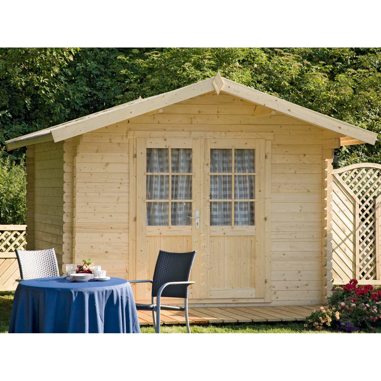 wolff finnhaus holz gartenhaus bibertal 28 a b x t 240 cm x 240 cm kaufen bei obi. Black Bedroom Furniture Sets. Home Design Ideas