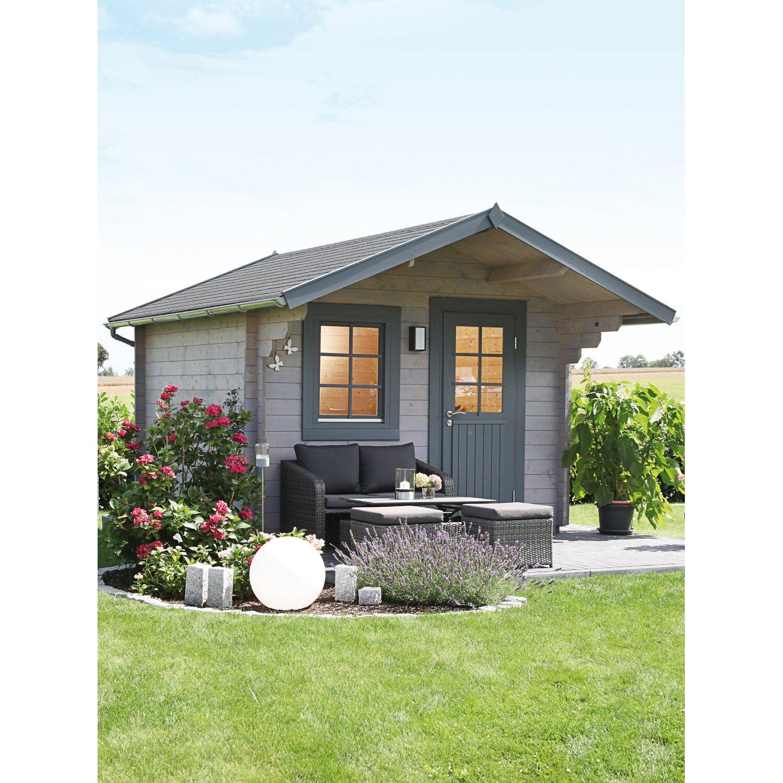 wolff finnhaus holz gartenhaus monika 34 b 300 cm x 300 cm. Black Bedroom Furniture Sets. Home Design Ideas