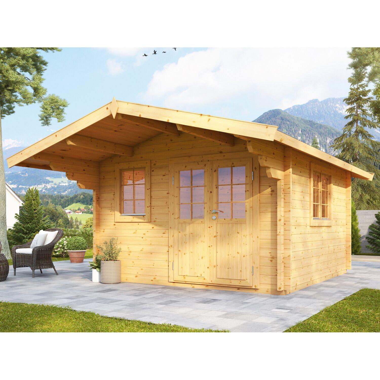 wolff finnhaus holz gartenhaus nordkap 70 c 390 cm x 390. Black Bedroom Furniture Sets. Home Design Ideas