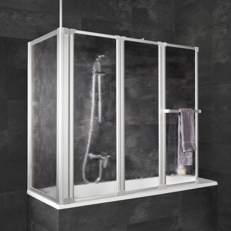 schulte badewannenaufsatz mit seitenwand kunstglas wei. Black Bedroom Furniture Sets. Home Design Ideas