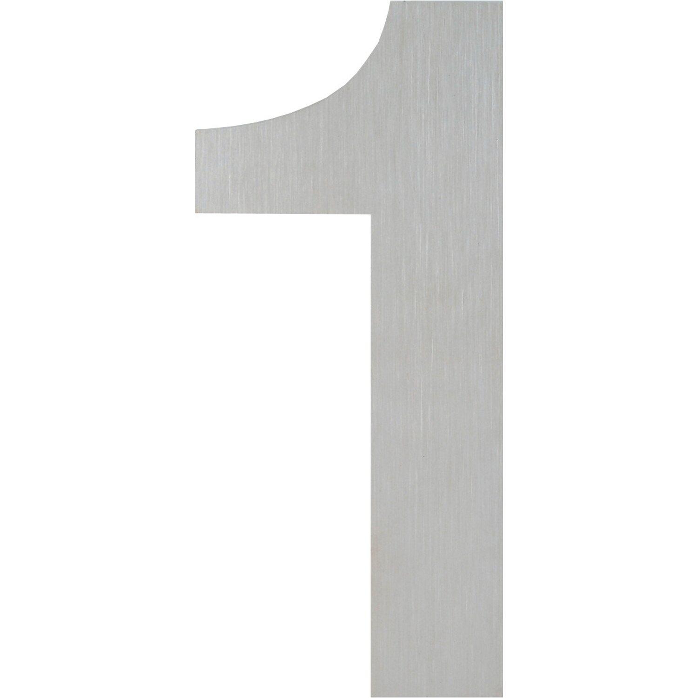 Hoppe  Hausnummer 1 Edelstahl matt