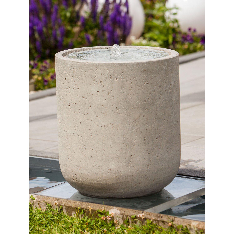 heissner terrassenbrunnen zylinder grey led kaufen bei obi. Black Bedroom Furniture Sets. Home Design Ideas