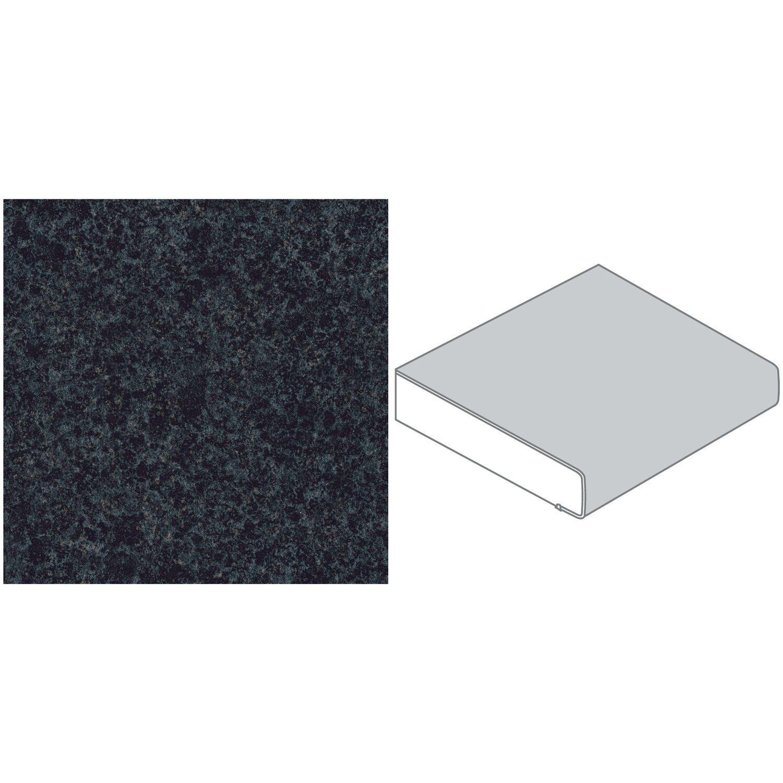 Arbeitsplatte 60 cm x 3 9 cm rena schwarz blau re 128 - Arbeitsplatte blau ...