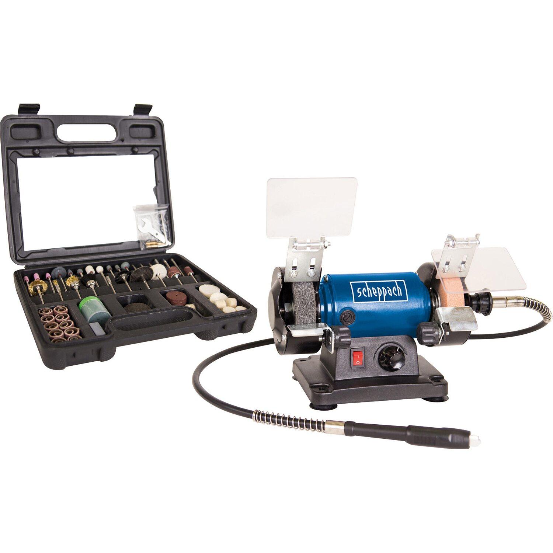 Scheppach Doppelschleifer HG34 mit 100-tlg. Werkzeug-Set | Baumarkt > Werkzeug > Werkzeug-Sets | Scheppach