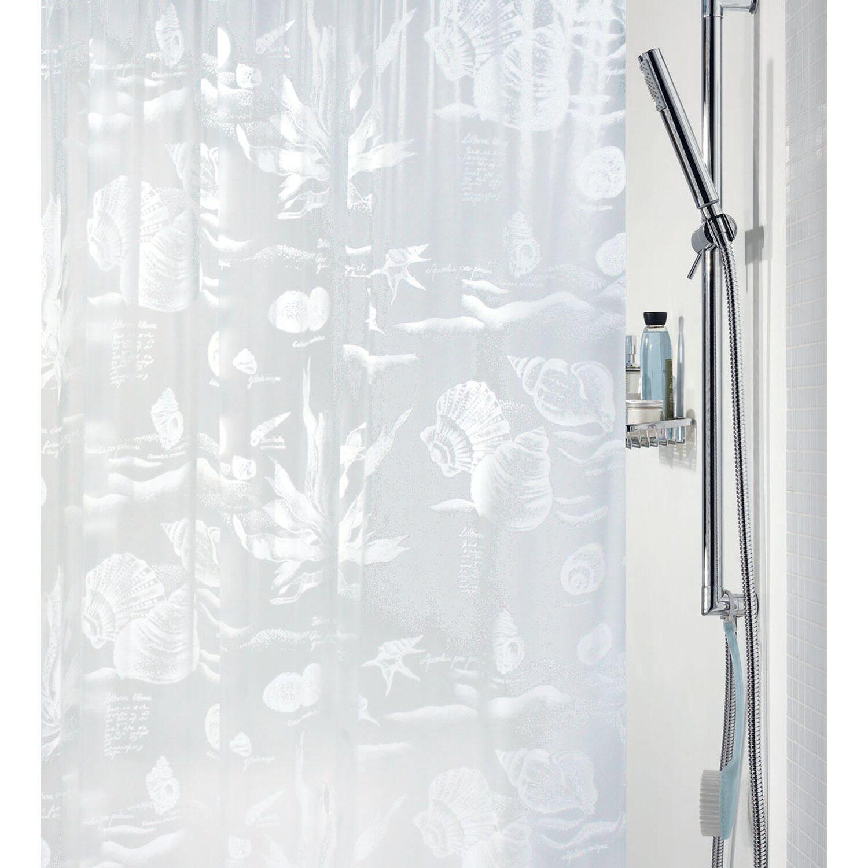 Spirella duschvorhang riff 180 cm x 200 cm wei kaufen bei obi for Spirella badaccessoires