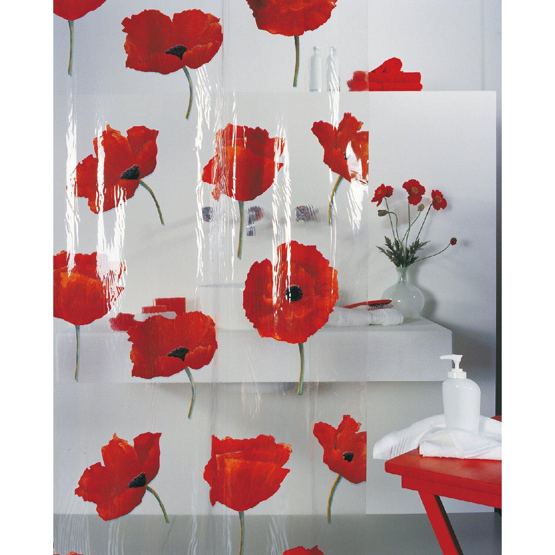 Spirella Duschvorhang Poppy 180 cm x 200 cm Cinnabar