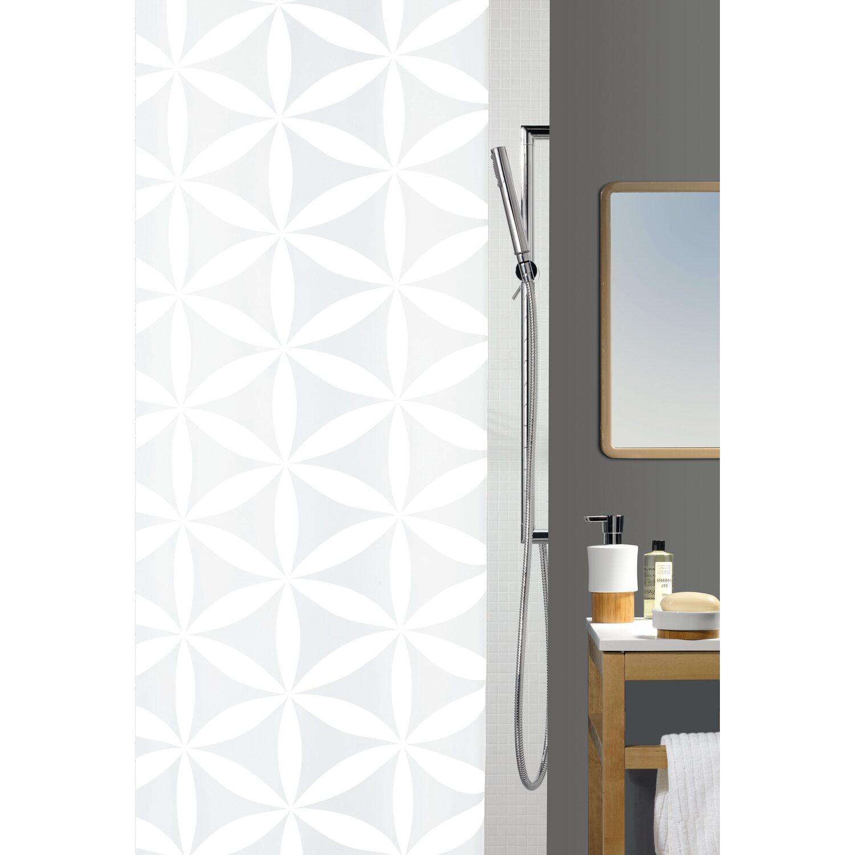 spirella duschvorhang textil rania 180 cm x 200 cm wei kaufen bei obi. Black Bedroom Furniture Sets. Home Design Ideas