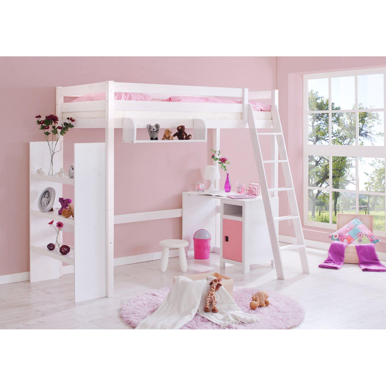 hochschl fer hochbett mit schr gleiter wei kaufen bei obi. Black Bedroom Furniture Sets. Home Design Ideas