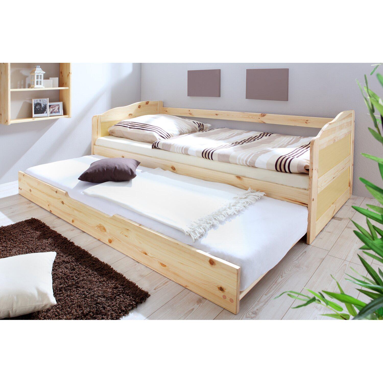 Sofabett Einzelbett Mit Auszug Melinda Natur Kaufen Bei Obi