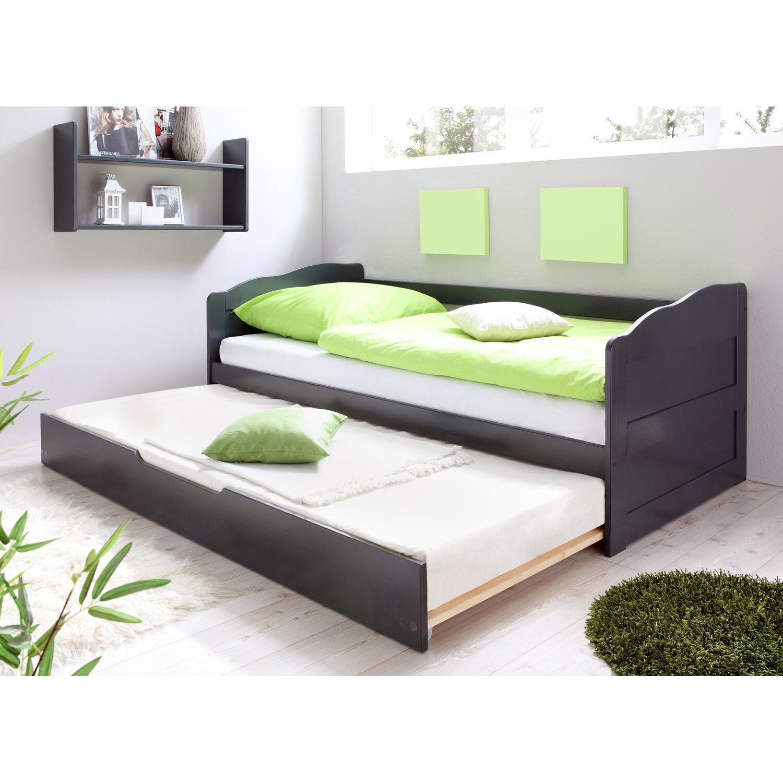 Sofabett für jugendzimmer  Sofabett Einzelbett mit Auszug Melinda Grau kaufen bei OBI