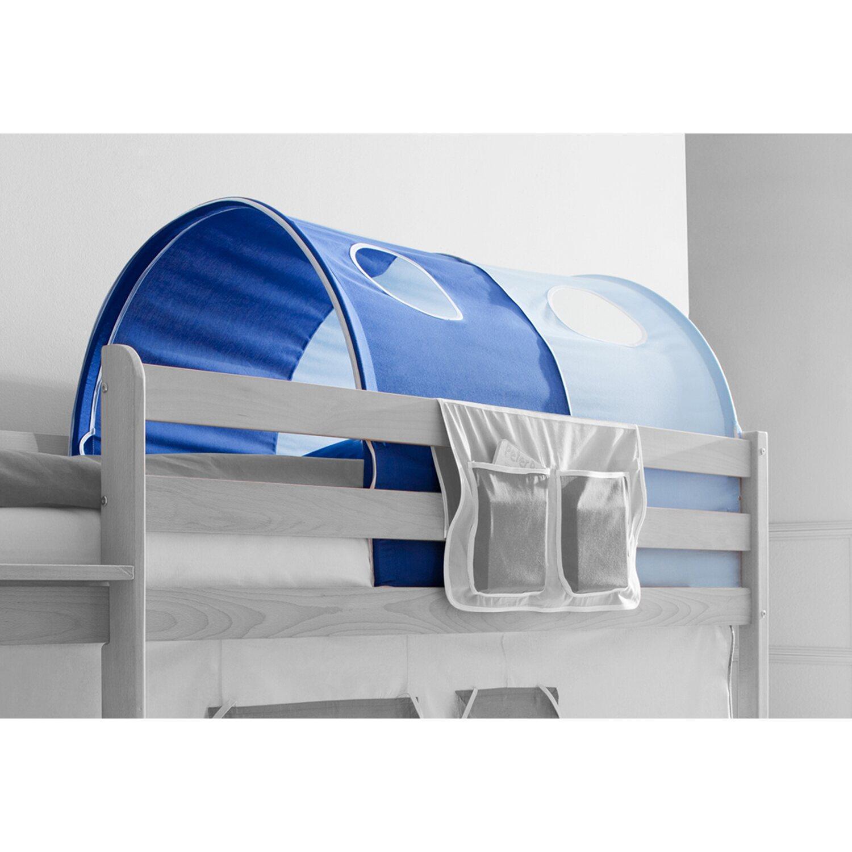 Tunnel für Hoch- und Etagenbetten Hellblau-Dunkelblau