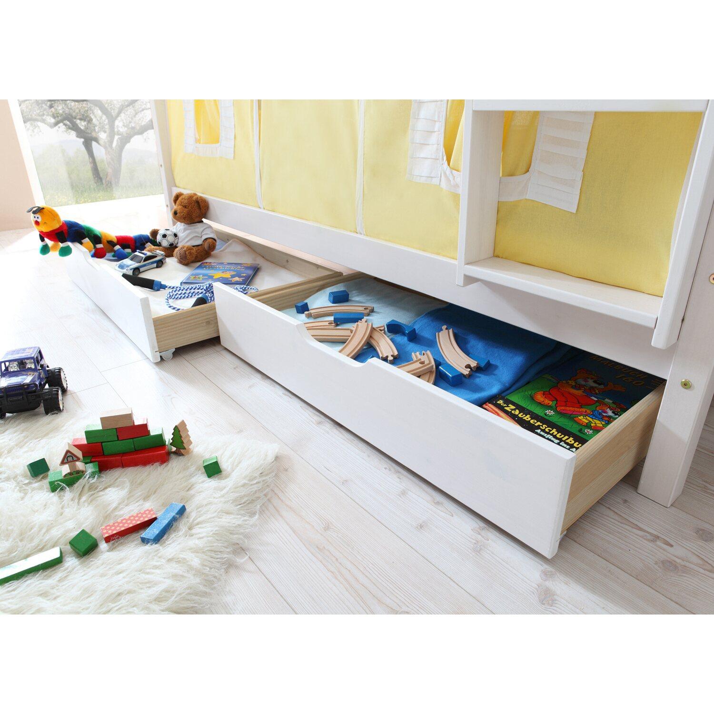 Schubkasten-Set für Etagenbetten Kiefer Weiß