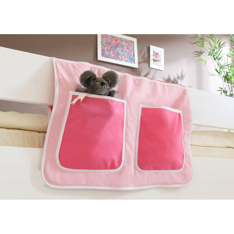 Bett-Tasche für Hoch- und Etagenbetten Pink