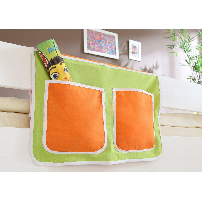 Bett-Tasche für Hoch- und Etagenbetten Grün-Orange
