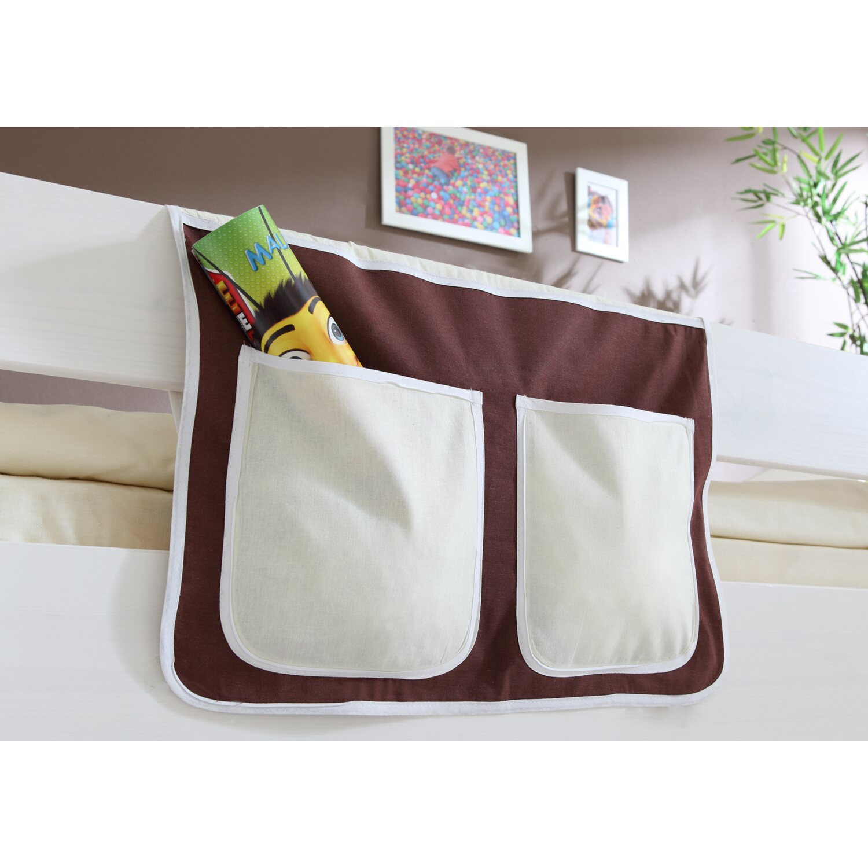 Bett-Tasche für Hoch- und Etagenbetten Braun-Beige