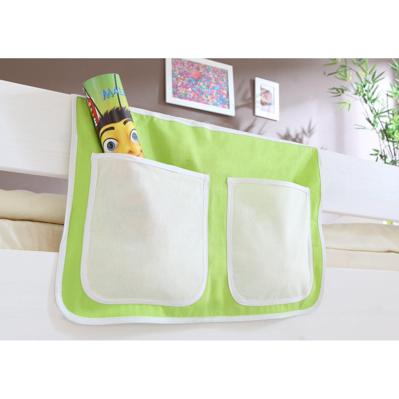 Bett-Tasche für Hoch- und Etagenbetten Beige-Grün