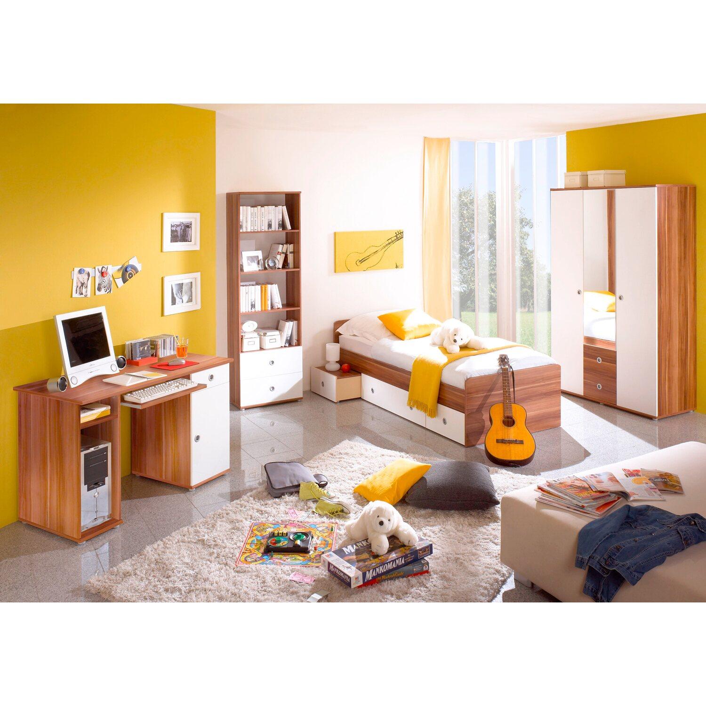 jugendzimmer set vicky 4 teilig walnuss nachbildung. Black Bedroom Furniture Sets. Home Design Ideas