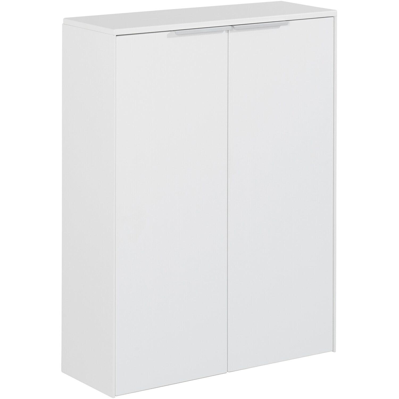 Fackelmann  Doppel-Unterschrank Scera 61 cm Pinie Struktur Weiß
