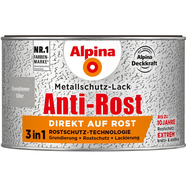 Alpina Metallschutz Lack Anti Rost Silber Eisenglimmer 300 Ml Kaufen