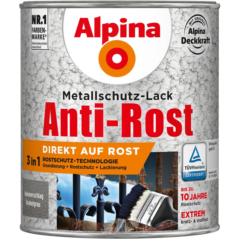 alpina metallschutz lack anti rost dunkelgrau hammerschlag 750 ml kaufen bei obi. Black Bedroom Furniture Sets. Home Design Ideas