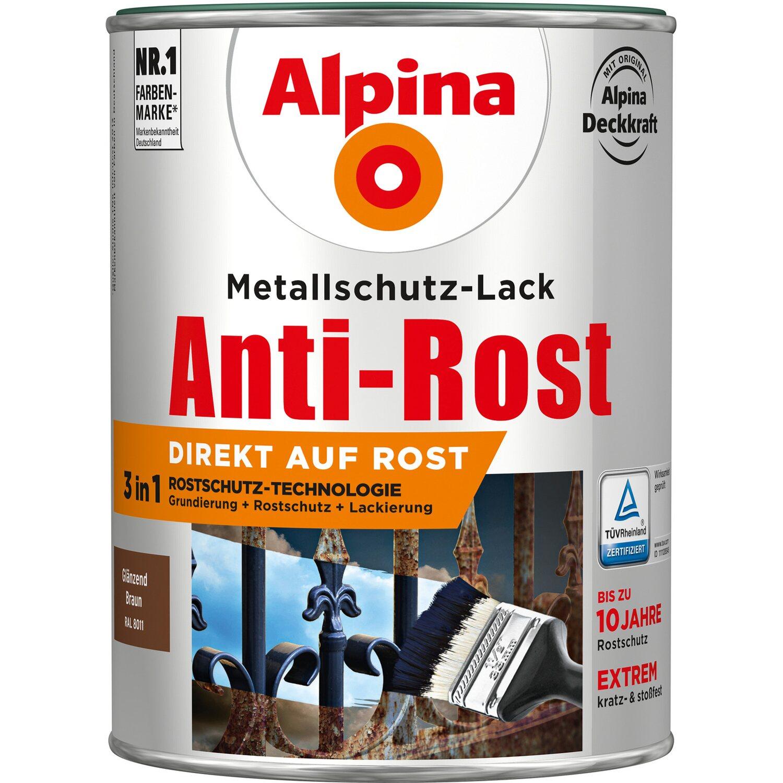 alpina metallschutz lack anti rost braun gl nzend 2 5 l kaufen bei obi. Black Bedroom Furniture Sets. Home Design Ideas