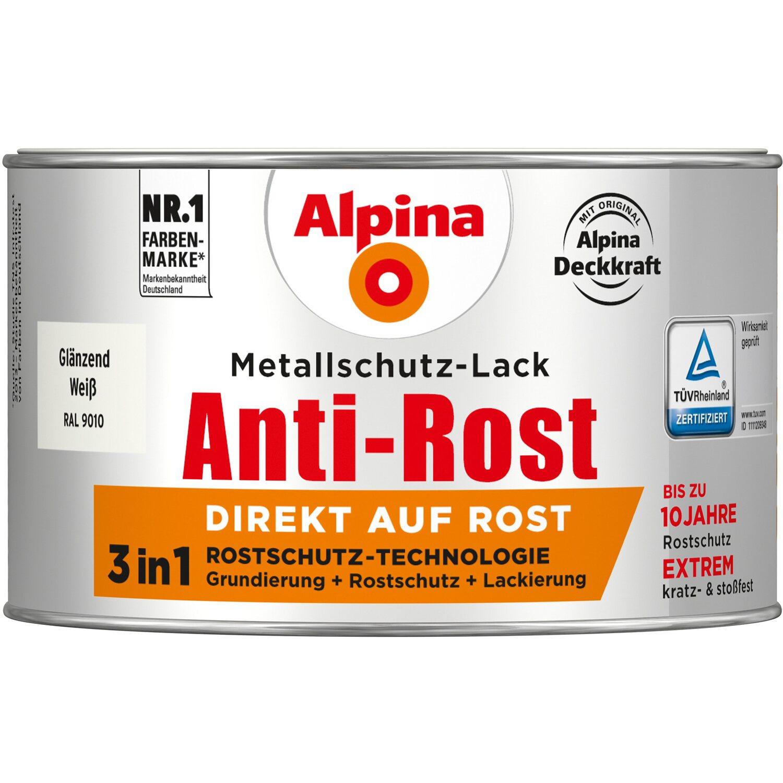 alpina metallschutz lack anti rost wei gl nzend 300 ml kaufen bei obi. Black Bedroom Furniture Sets. Home Design Ideas