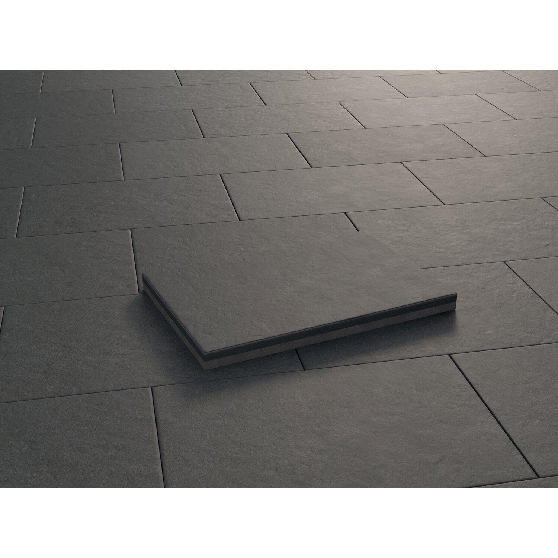 Terrassenplatte Beton Sintra Anthrazit Strukturiert Versiegelt 60 X
