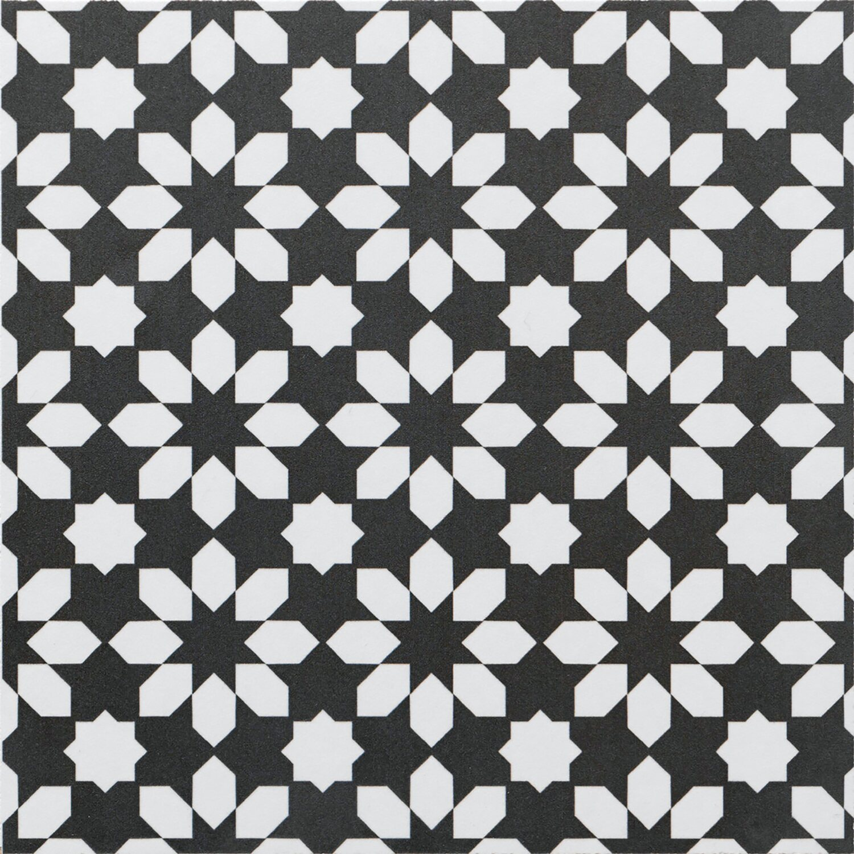 Feinsteinzeug Ciment Mix Noir Blanc 20 cm x 20 cm