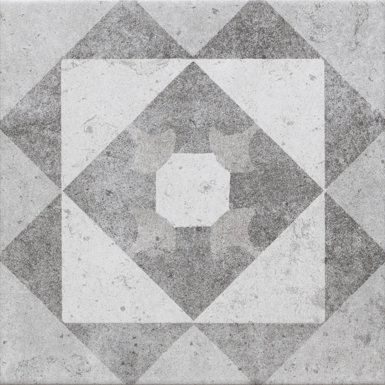 Dekor Casato Mix Gris Blanc 20 cm x 20 cm