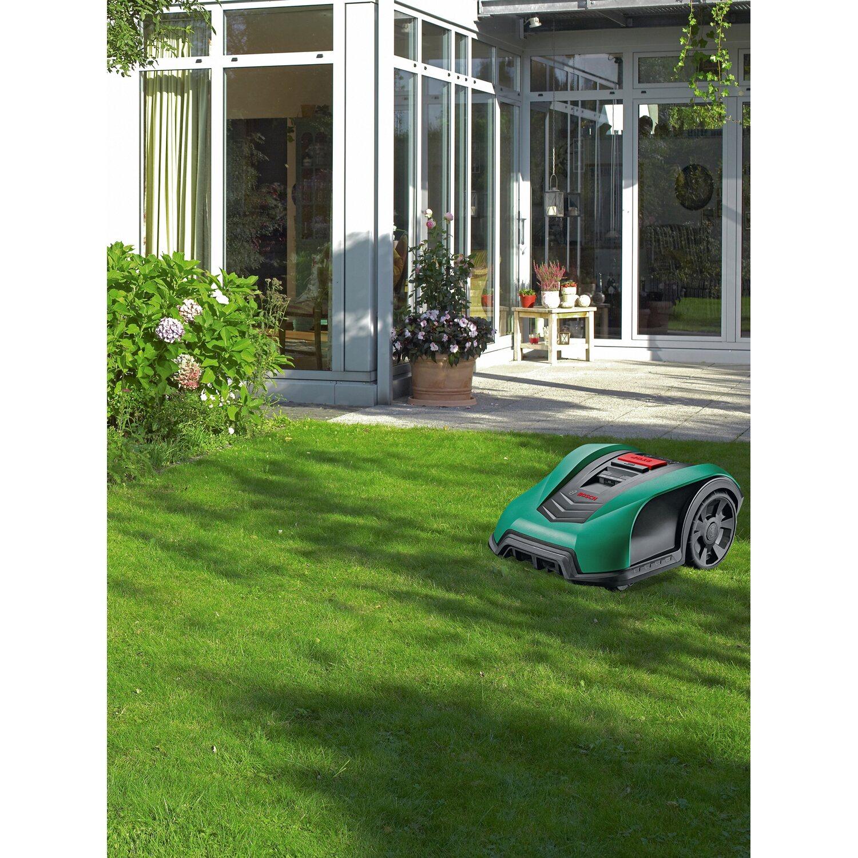 bosch m hroboter indego 400 inkl m hroboter garage kaufen bei obi. Black Bedroom Furniture Sets. Home Design Ideas