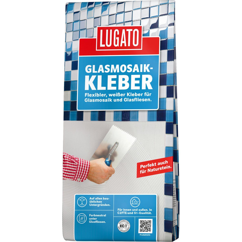 Lugato Glasmosaik-Kleber 5 kg Weißer Fliesenkleber
