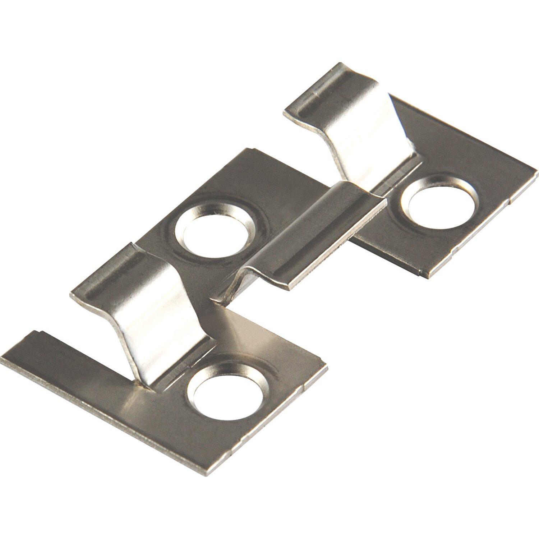 Kovalex  Montageklammern für WPC Terrassendielen Metall 25 Stück