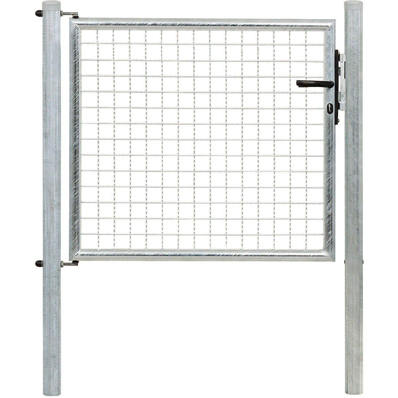 GAH Alberts Einzeltor für Maschendraht- und Fix-Clip Pro-Zaun Feuerverzinkt 75 cm x 100 cm