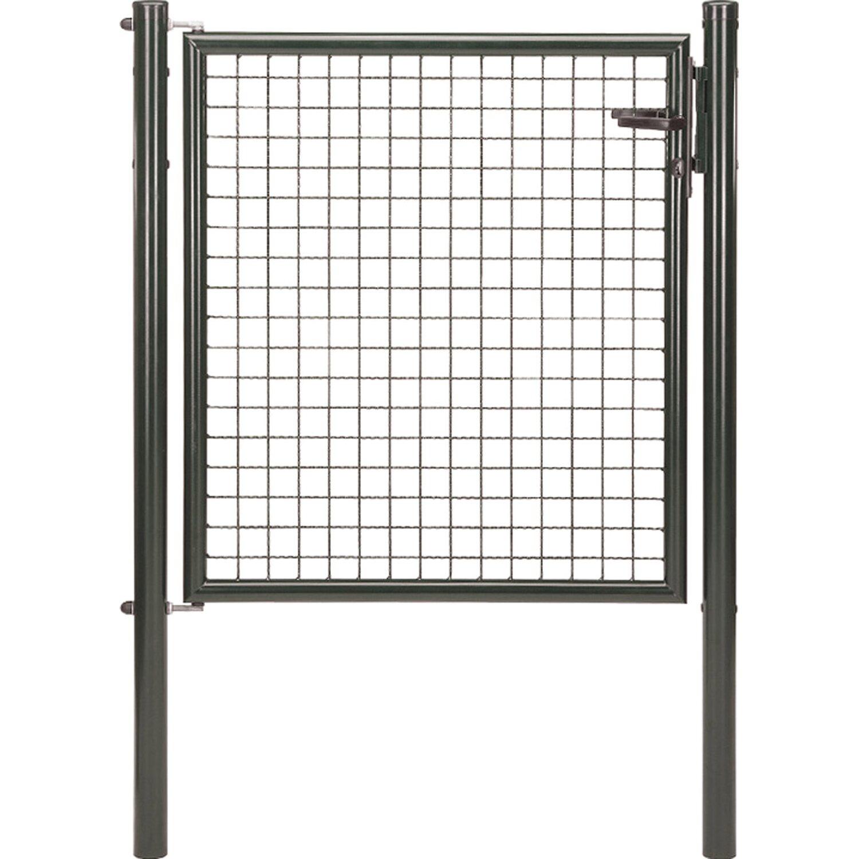GAH Alberts Einzeltor für Maschendraht- und Fix-Clip Pro-Zaun Anthrazit-Met. 100 cm x 100 cm