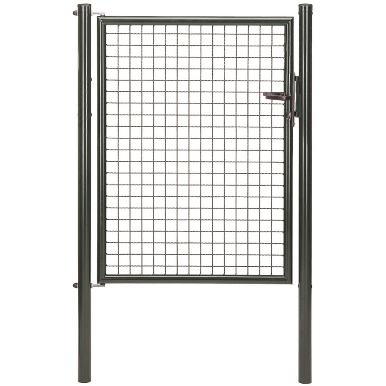 GAH Alberts Einzeltor für Maschendraht- und Fix-Clip Pro-Zaun Anthrazit-Met. 125 cm x 100 cm