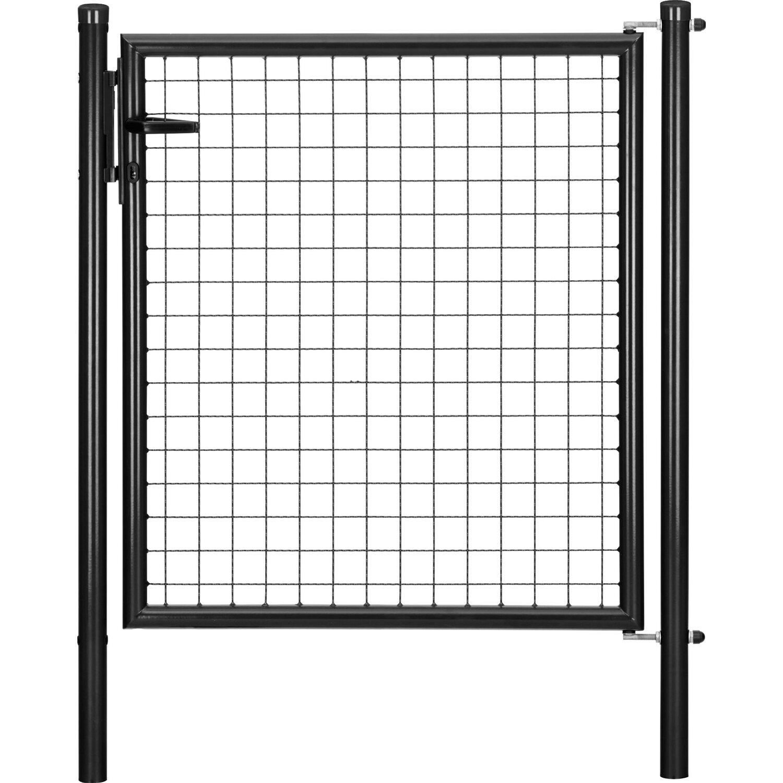 GAH Alberts Einzeltor für Maschendraht- und Fix-Clip Pro-Zaun Anthrazit-Met. 150 cm x 100 cm