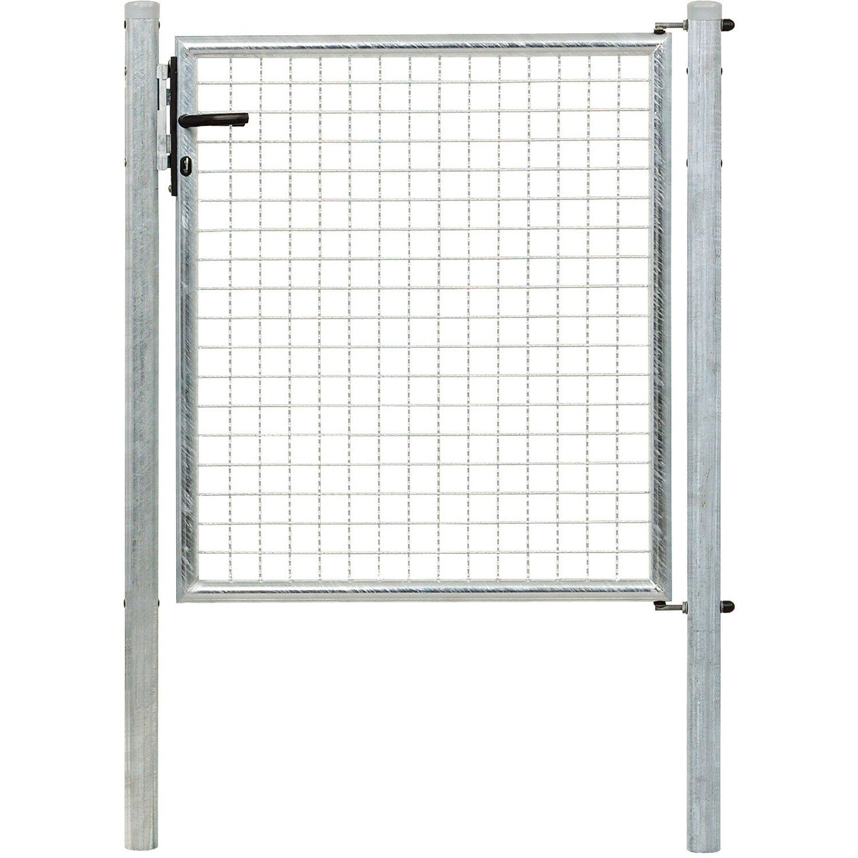 GAH Alberts Einzeltor für Maschendraht- und Fix-Clip Pro-Zaun Feuerverzinkt 100 cm x 100 cm