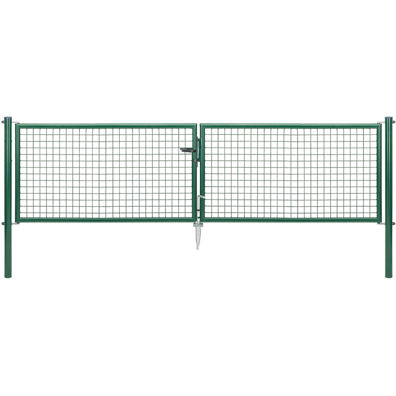 GAH Alberts Doppeltor für Maschendraht- und Fix-Clip Pro-Zaun Grün 75 cm x 300 cm