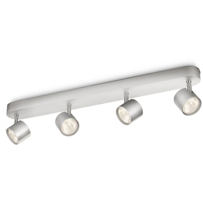Philips LED-Spot 4er EEK: A++ Star Silber