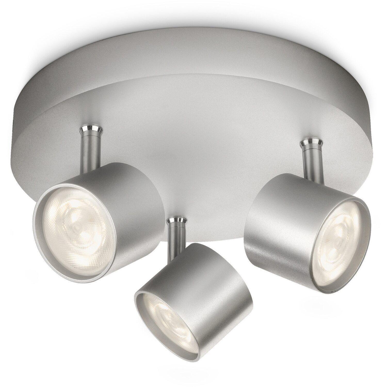 Philips LED-Spot 3er EEK: A++ Star Silber