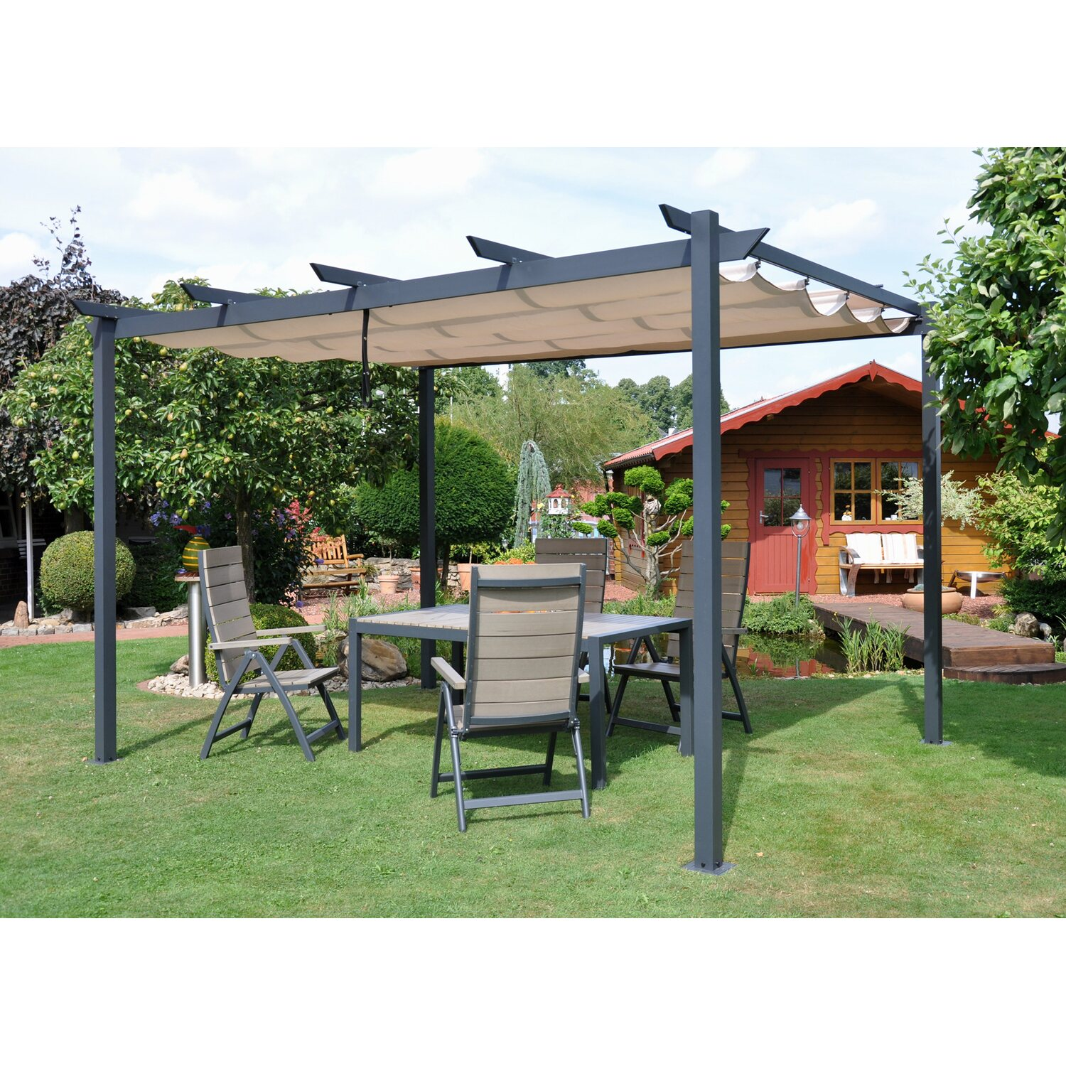 leco pergola 3 m x 4 m kaufen bei obi. Black Bedroom Furniture Sets. Home Design Ideas