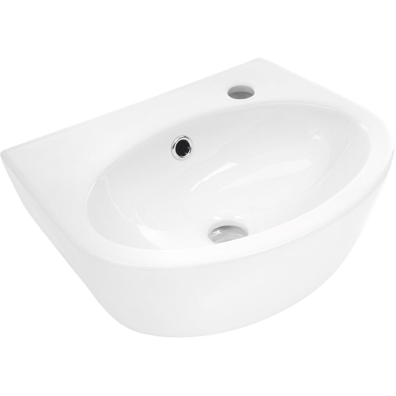 aquasu handwaschbecken facila 40 cm wei hahnloch rechts kaufen bei obi. Black Bedroom Furniture Sets. Home Design Ideas