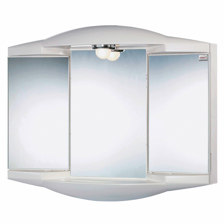 Sieper Spiegelschrank, Chico 62 cm Weiß EEK: B-A+ kaufen bei OBI