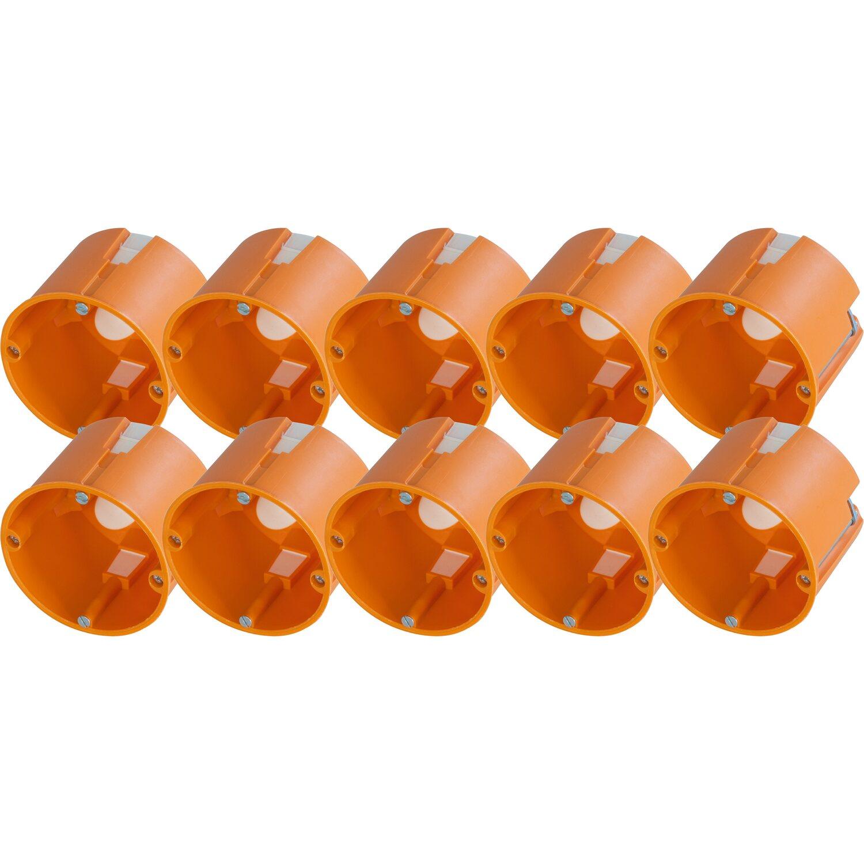 3 Stück Hohlwanddose 2-fach Schalterdose Abzweigdose Hohlraumdose Ø 60 x 45 mm