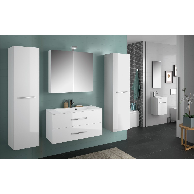 allibert badm bel set adept wei 90 cm 5 teilig eek a kaufen bei obi. Black Bedroom Furniture Sets. Home Design Ideas