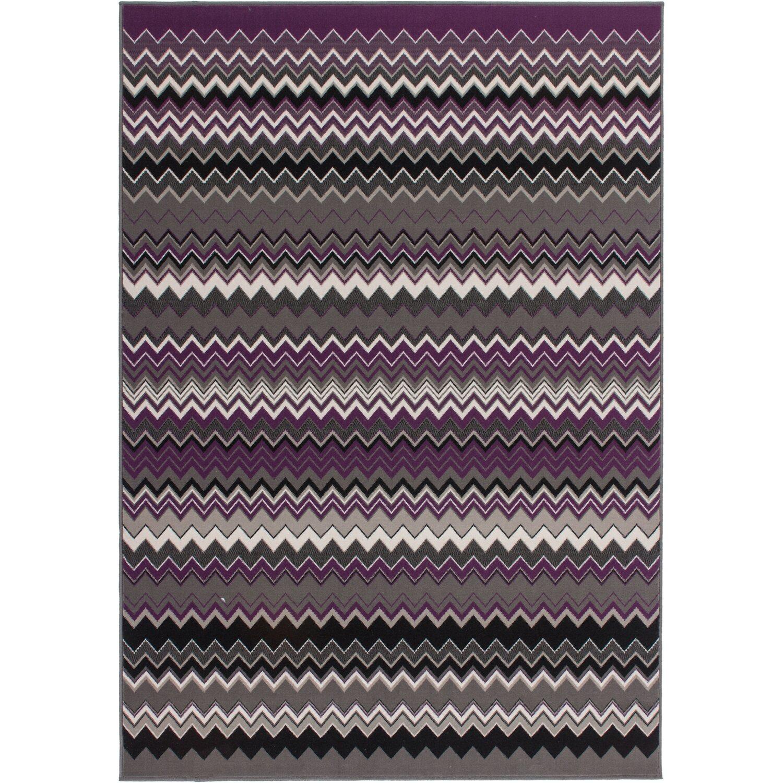 teppich icon 910 multicolor violett 80 cm x 150 cm kaufen. Black Bedroom Furniture Sets. Home Design Ideas